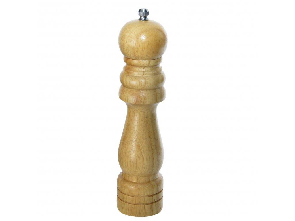 Dřevěný mlýnek na koření, výška 21 cm