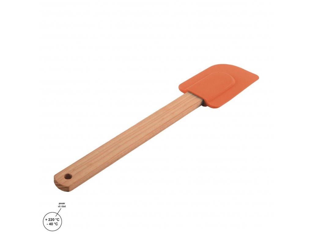 Kuchyňská stěrka dřevo se silikonem 26 cm