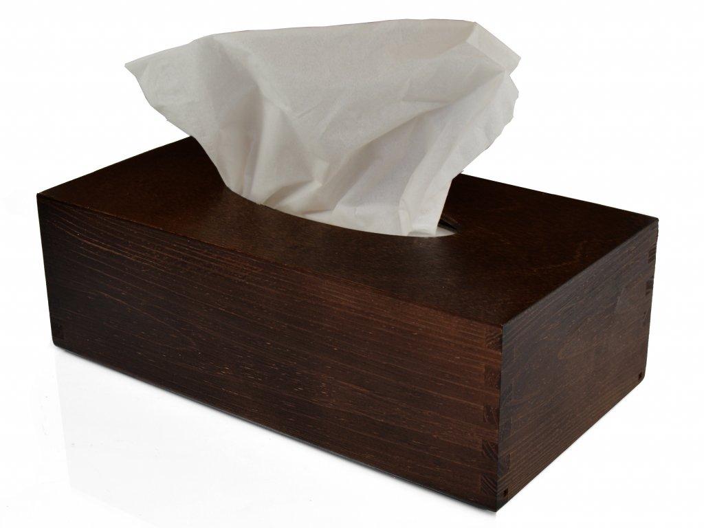 Dřevěná krabička na papírové kapesníky, palisandr s výsuvným dnem