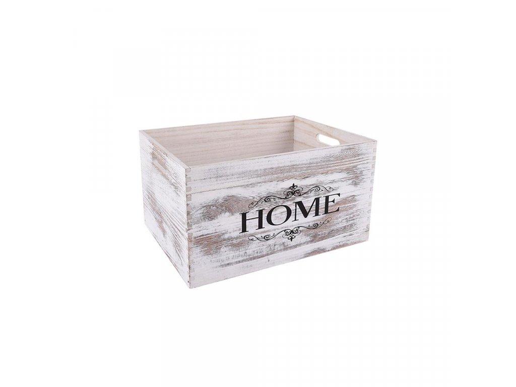 Dřevěná bedýnka HOME 31 x 21 x 16 cm