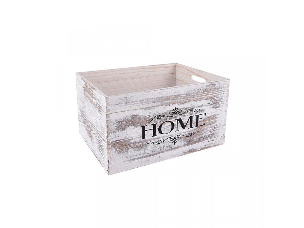 Dřevěná bedýnka HOME 34 x 24 x 18 cm