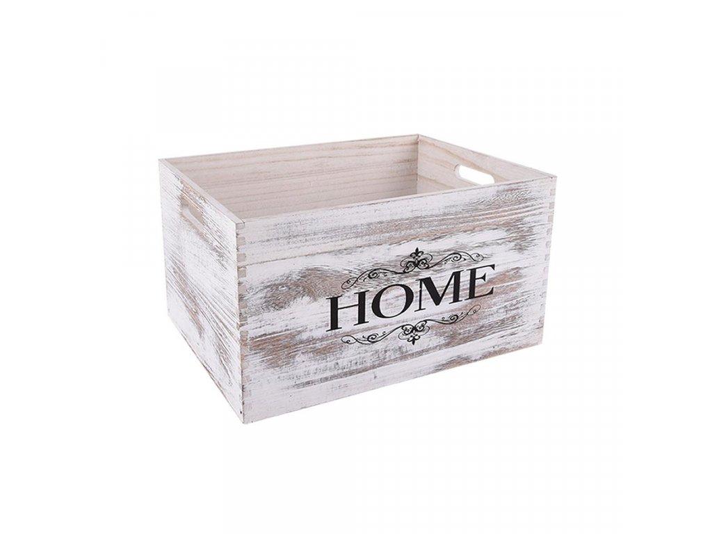 Dřevěná bedýnka HOME 37 x 27 x 20 cm
