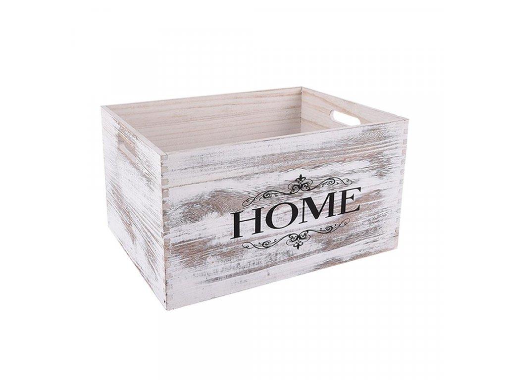 Dřevěná bedýnka HOME 40 x 30 x 22 cm