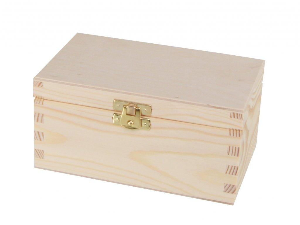 Dřevěná krabička na čaj s dvěma přihrádkami a zapínáním