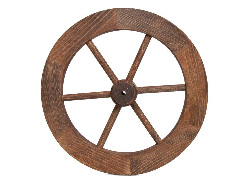 Loukoťové kolo z bukového dřeva pr. 30 cm - nátěr ořech