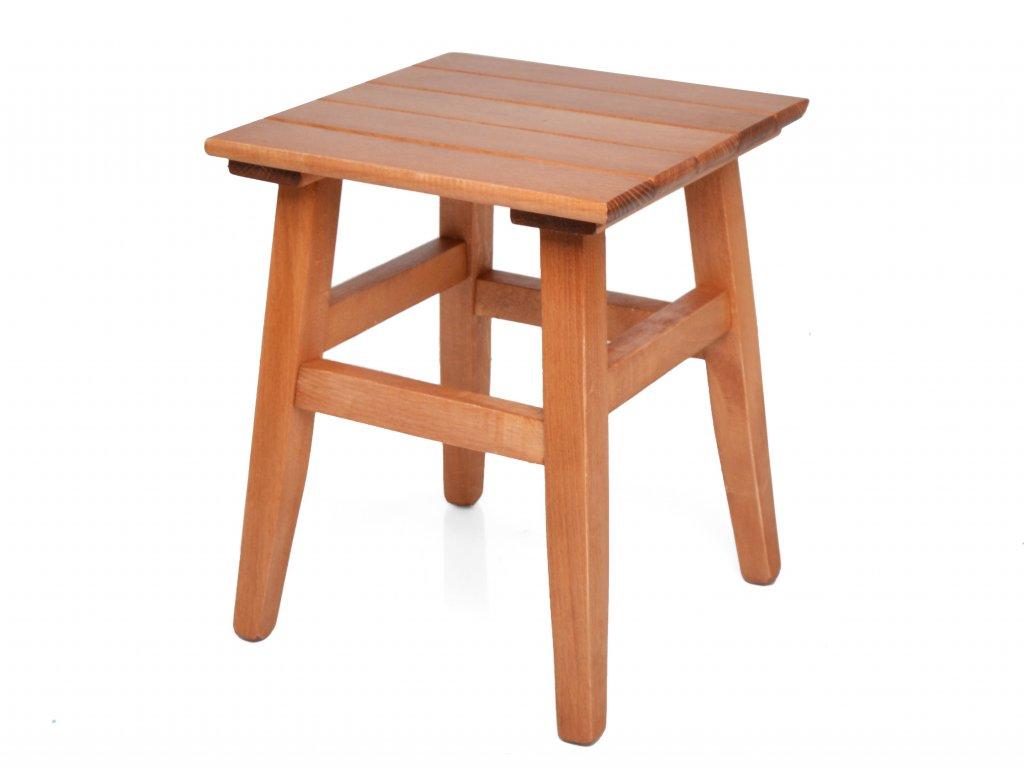 Dřevěná stolička z bukového dřeva s nátěrem zlatý dub - štokrle