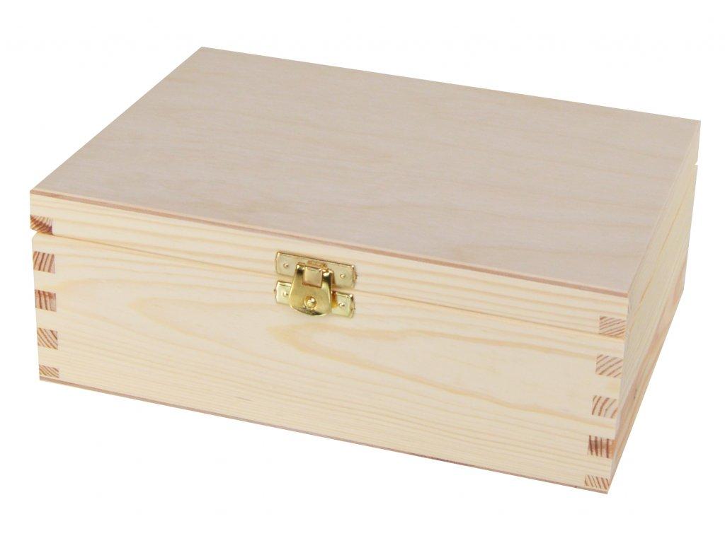 Dřevěná krabička na čaj s šesti přihrádkami a zapínáním