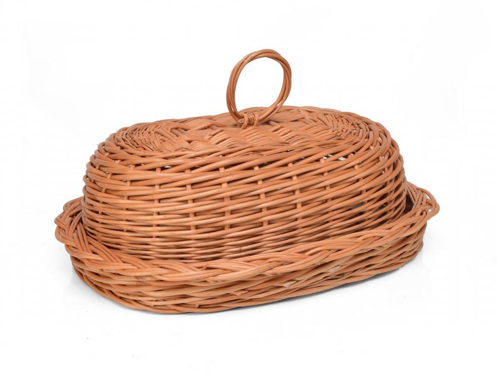 Chlebník proutěný oválný s úchytem
