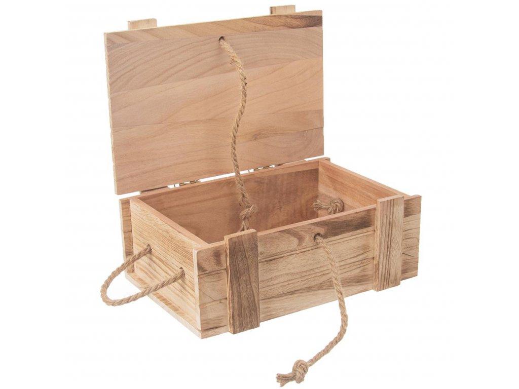 Dřevěná truhla - bedýnka na dárky 36 x 26 x 16 cm