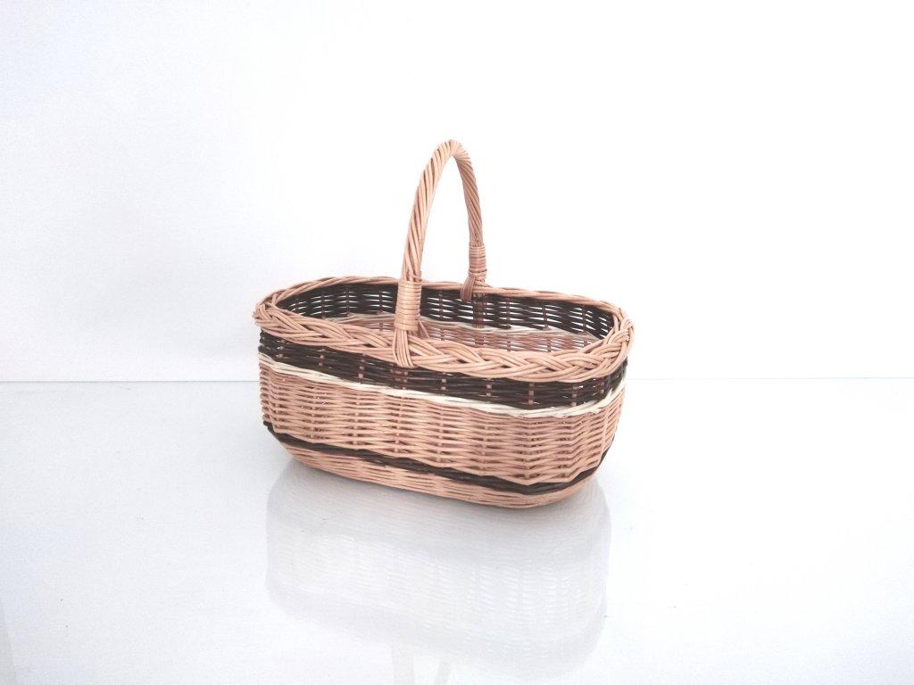 Proutěný nákupní košík Anetka
