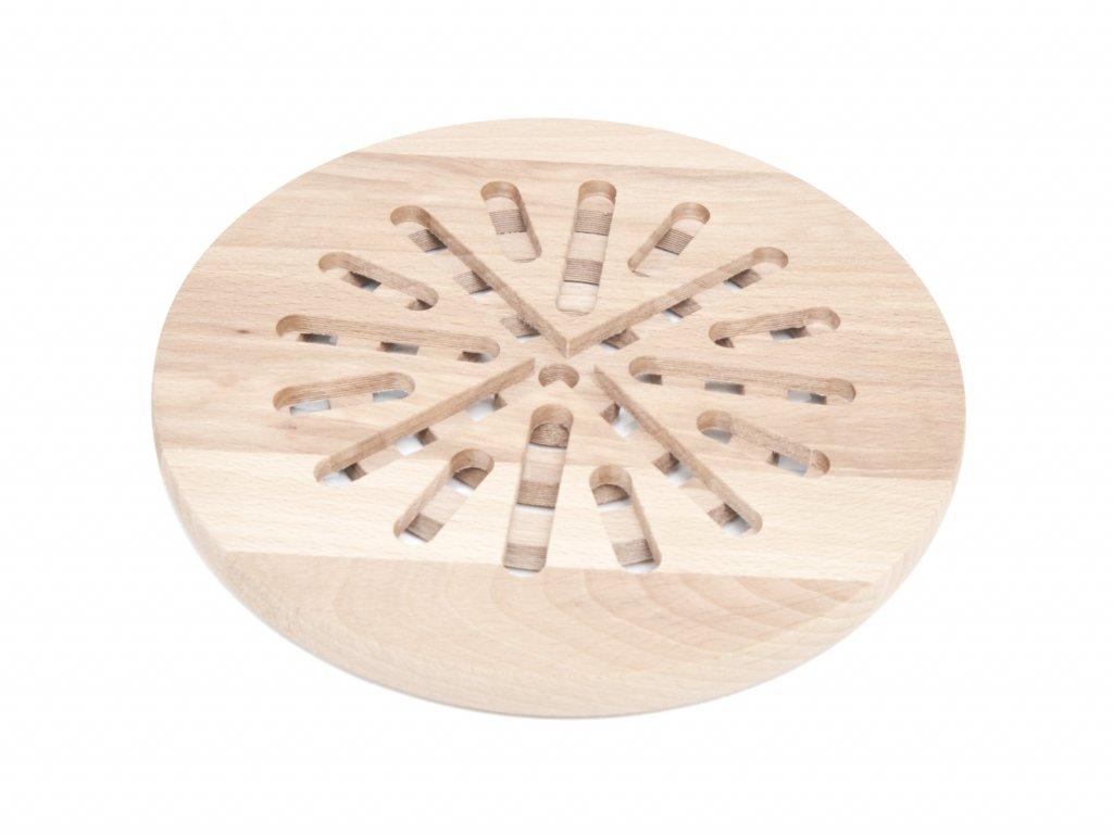 Kulatá podložka pod hrnec z bukového dřeva