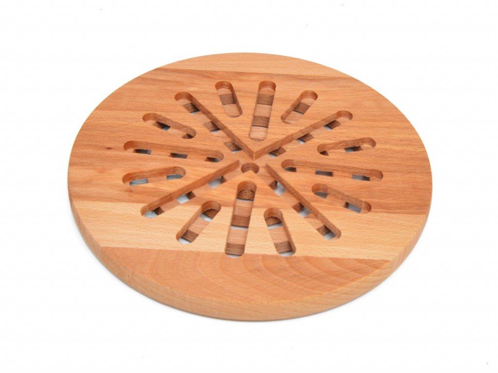 Kulatá podložka pod hrnec z třešňového dřeva