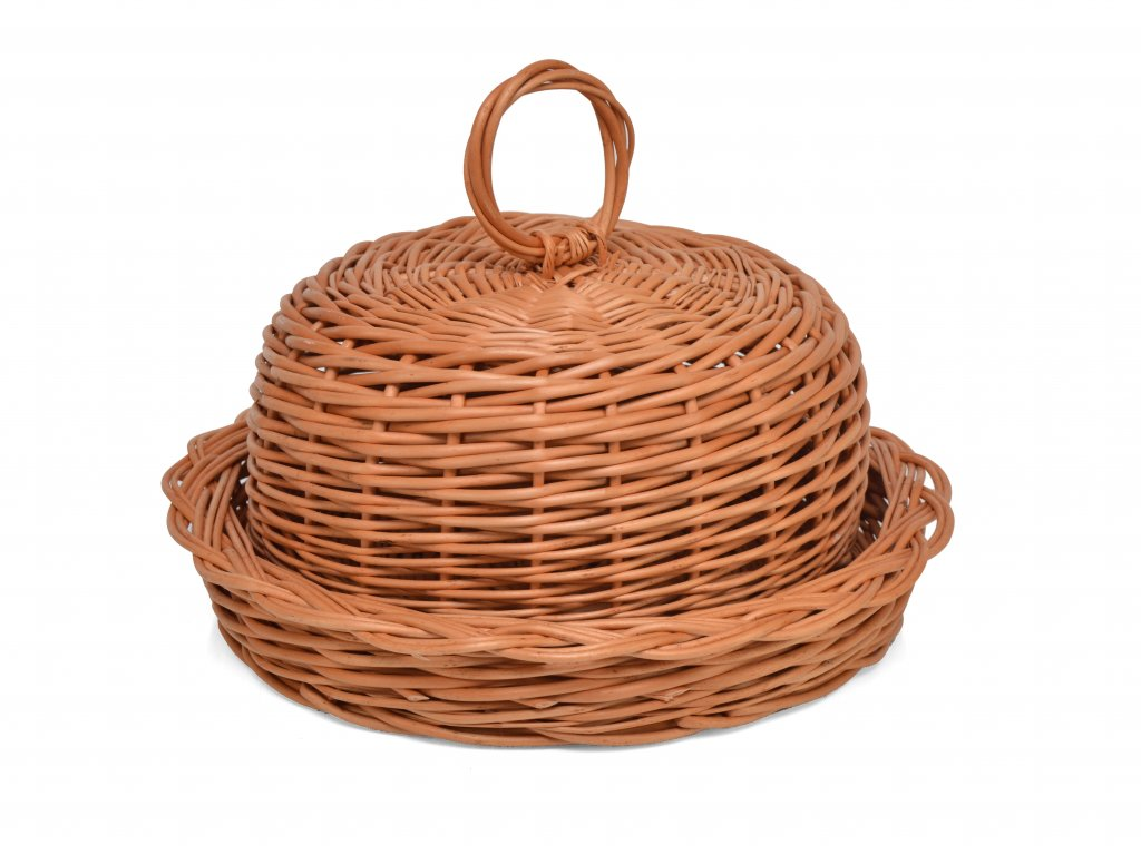 Chlebník - chlebovka proutěná s úchytem, kulatá