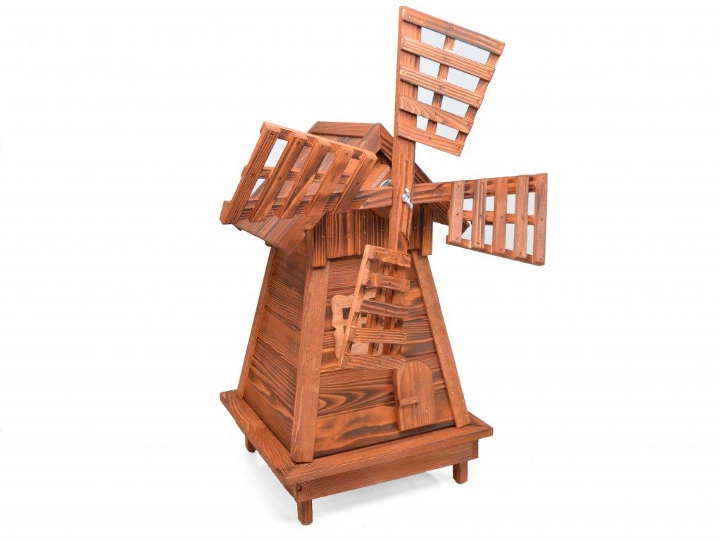 Větrný mlýn na zahradu v. 88 cm - ohnivý mahagon