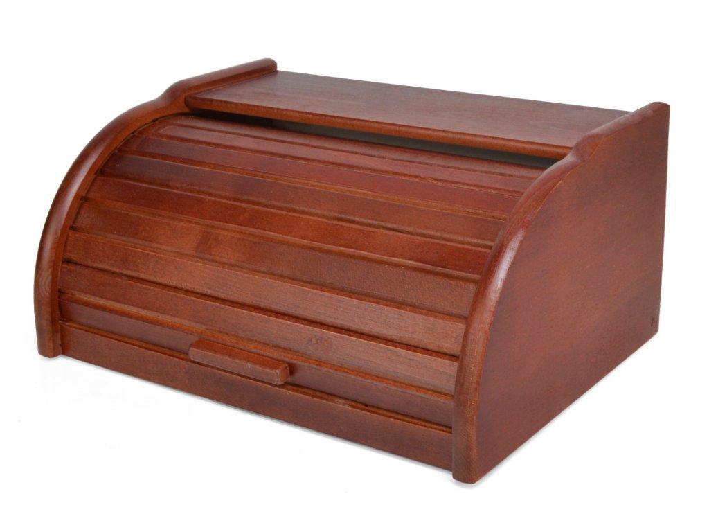 Dřevěný chlebník - chlebovka Laura, ořech 39 x 29 x 18 cm