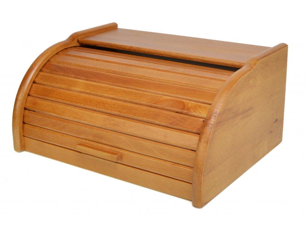 Dřevěný chlebník - chlebovka Laura, dub 39 x 29 x 18 cm