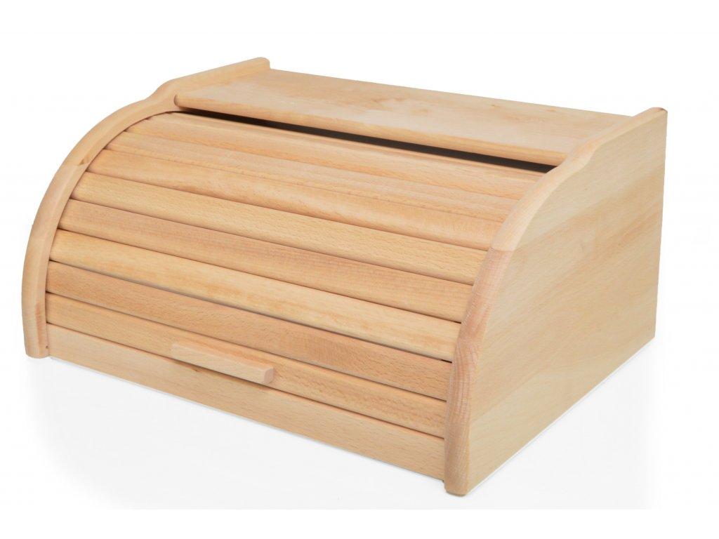 Dřevěný chlebník - chlebovka Laura, přírodní, olejovaný 39 x 29 x 18 cm