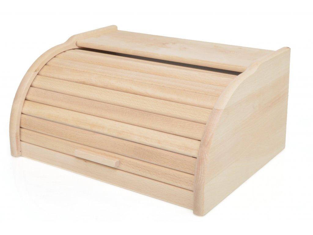 Dřevěný chlebník - chlebovka Laura, přírodní - 39 x 29 x 18 cm