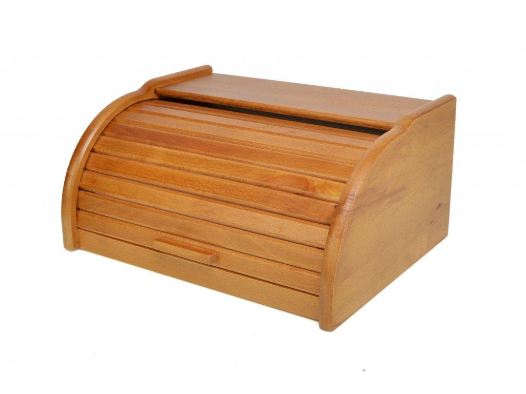 Dřevěný chlebník - chlebovka Laura mini, dub 32 x 25 x 16 cm