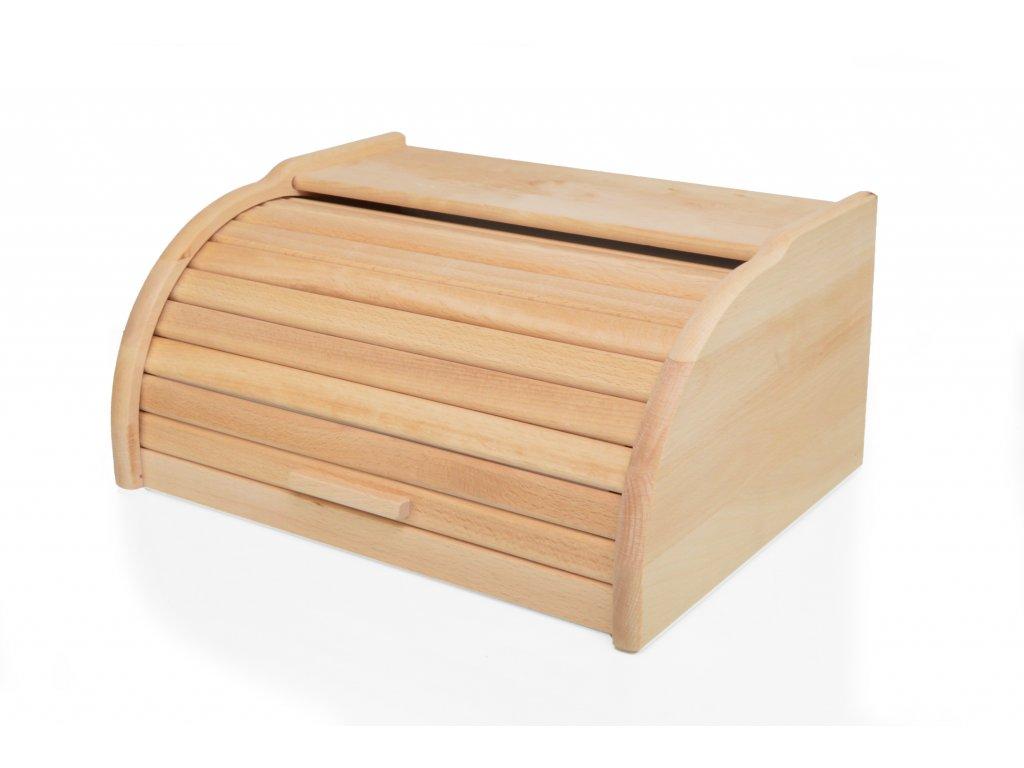 Dřevěný chlebník - chlebovka Laura mini, přírodní, olejovaná - 32 x 25 x 16 cm