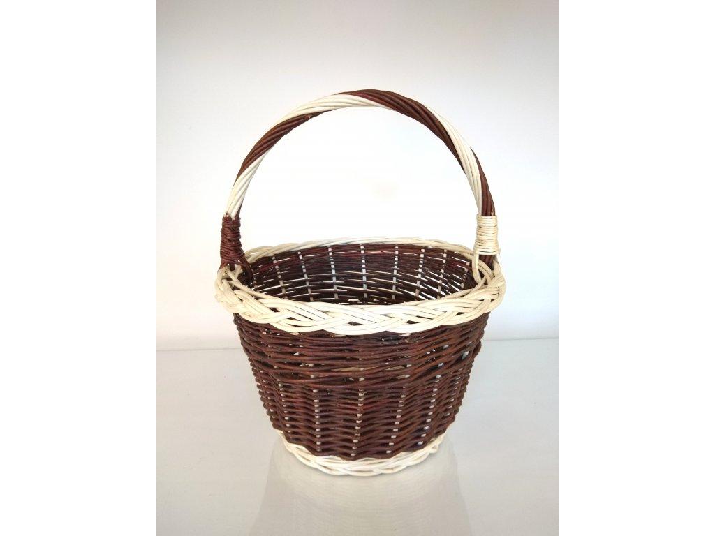 Proutěný košík na ovoce z neloupaného proutí - velký II