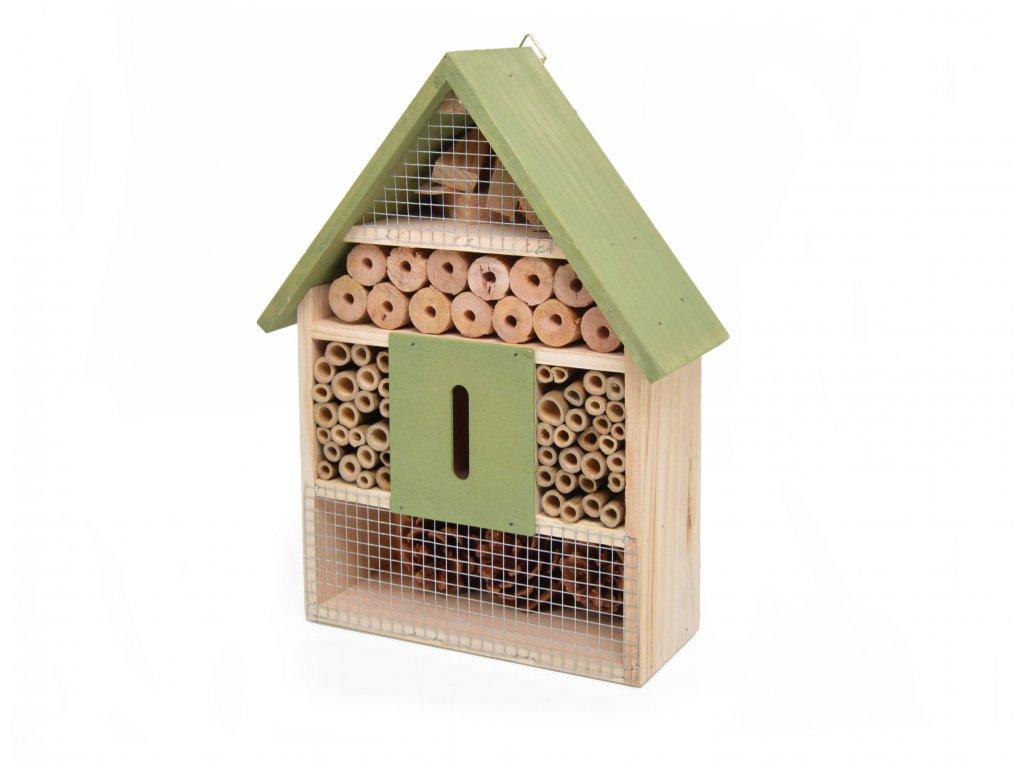 Domeček pro hmyz - hmyzí hotel, zelená - 30 x 22 cm