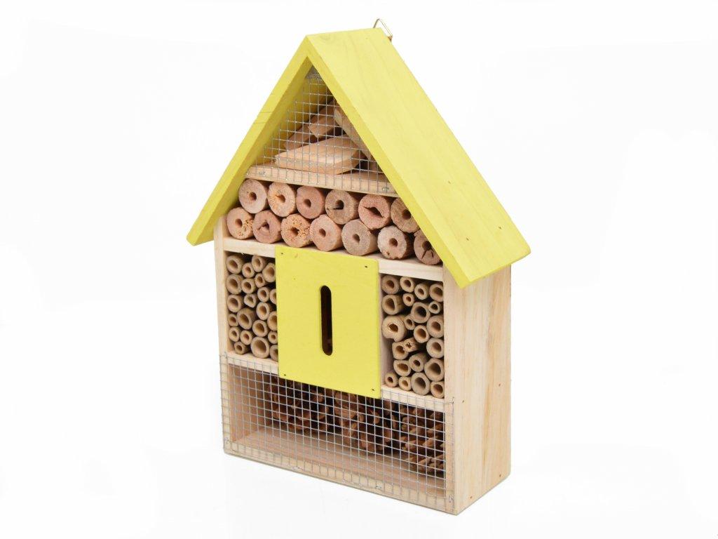 Domeček pro hmyz - hmyzí hotel, žlutá - 30 x 22 cm
