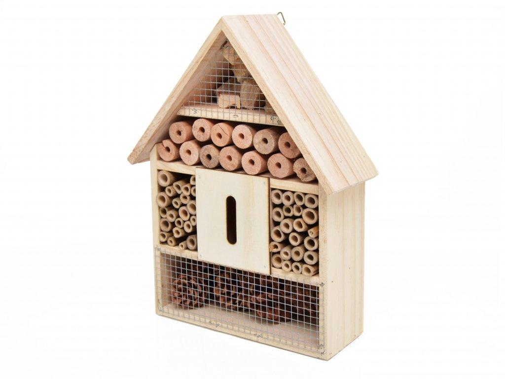 Domeček pro hmyz - hmyzí hotel, přírodní - 30 x 22 cm