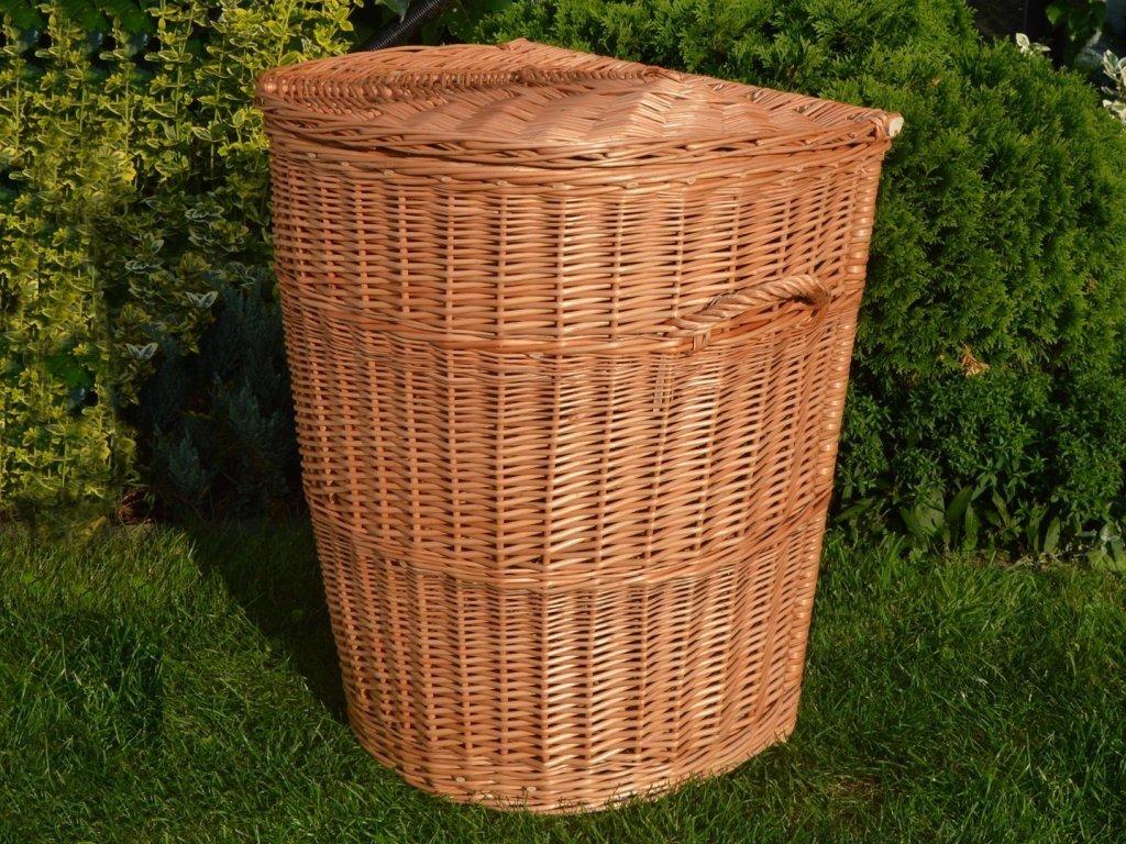 Proutěný koš na prádlo ke zdi - v. 53 cm