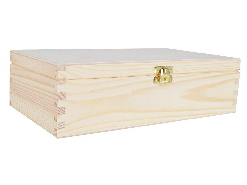 Dřevěná krabička s víkem - 28 x 16 x 8 cm