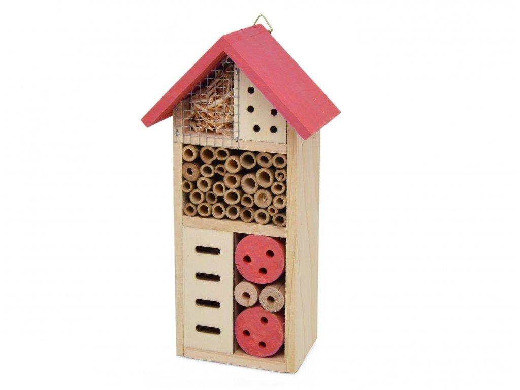Domeček pro hmyz - hmyzí hotel, růžová - 26 x 13 cm