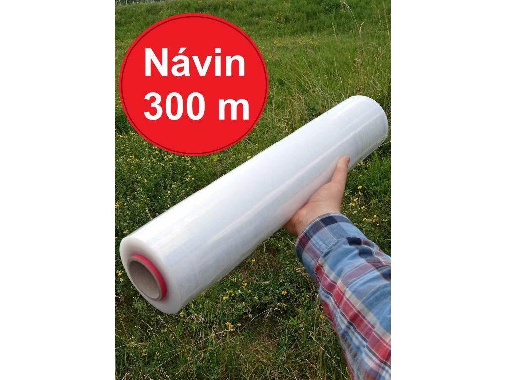 Stretch folie průtažná ruční 500 mm šířka, 20µm, návin 300 m !