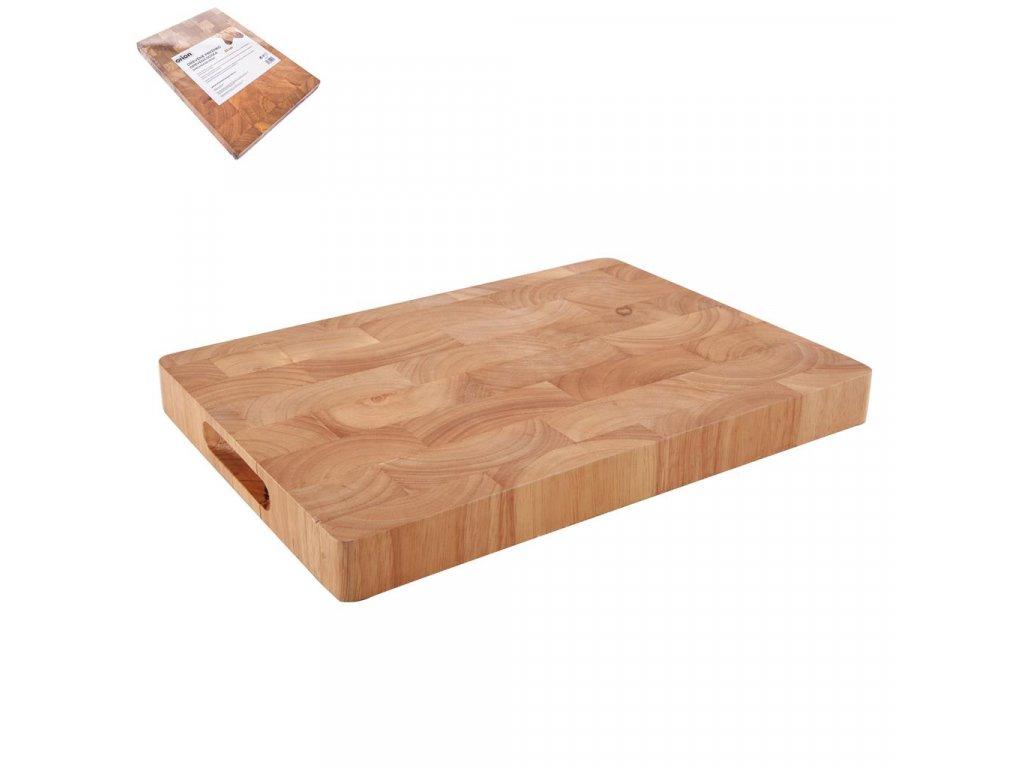 Kuchyňské prkénko z gumovníkového dřeva, 35 x 25 cm, II. JAKOST!