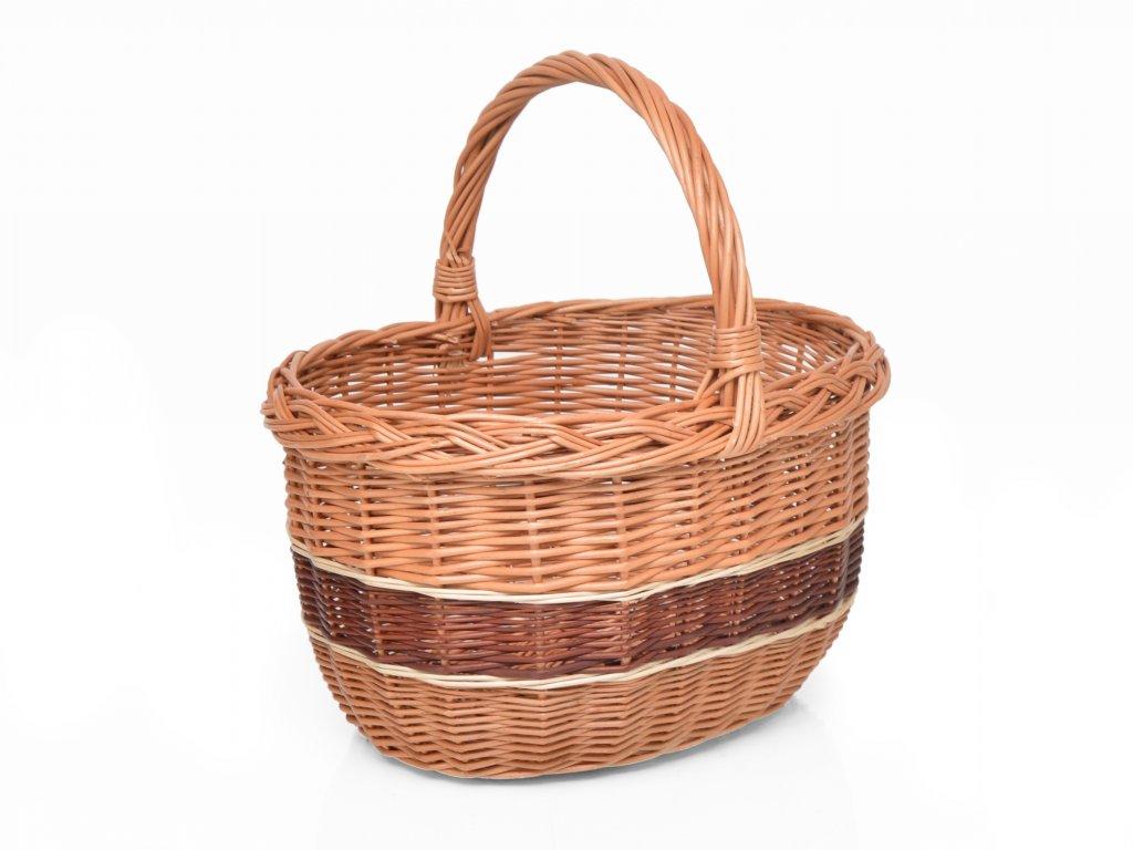 Proutěný nákupní košík Margita