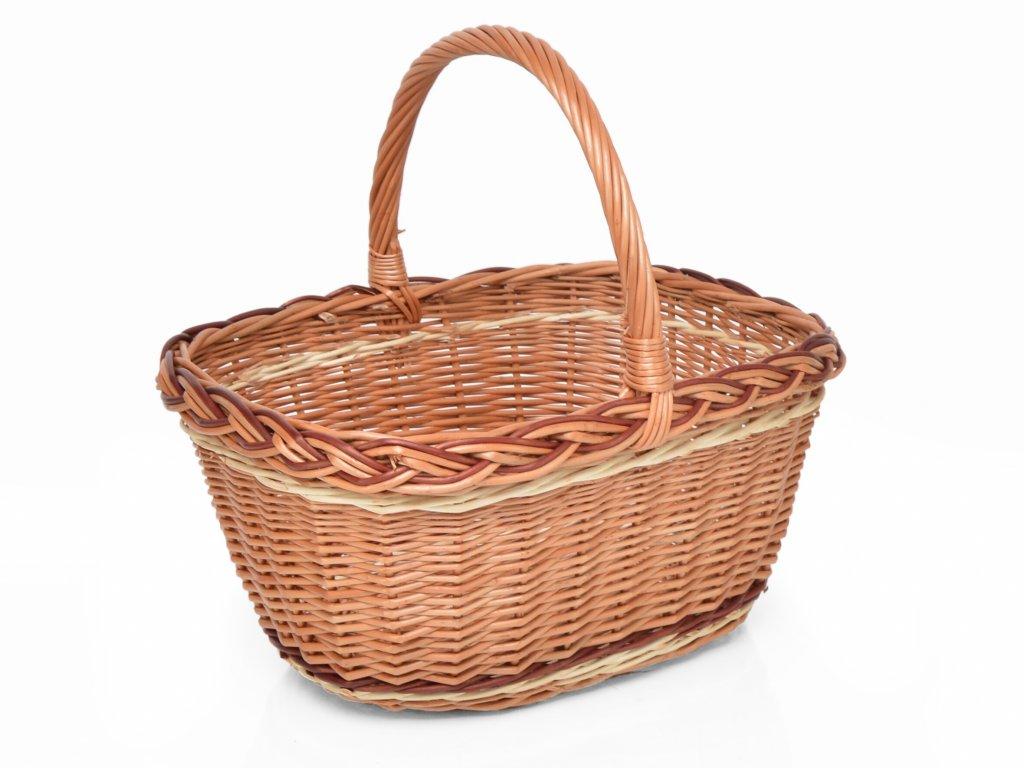 Proutěný nákupní košík Eliška III.