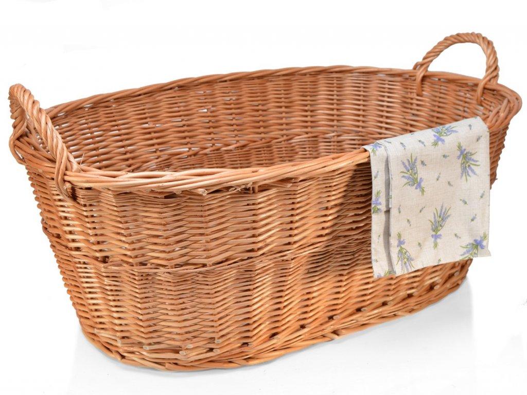 Proutěný koš na prádlo vandle - 90 cm