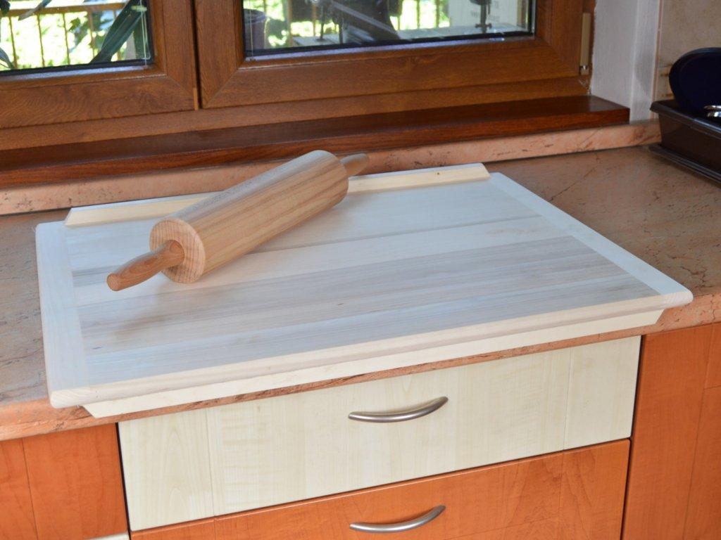 Dřevěný vál na těsto 70 x 50 cm - oboustranný