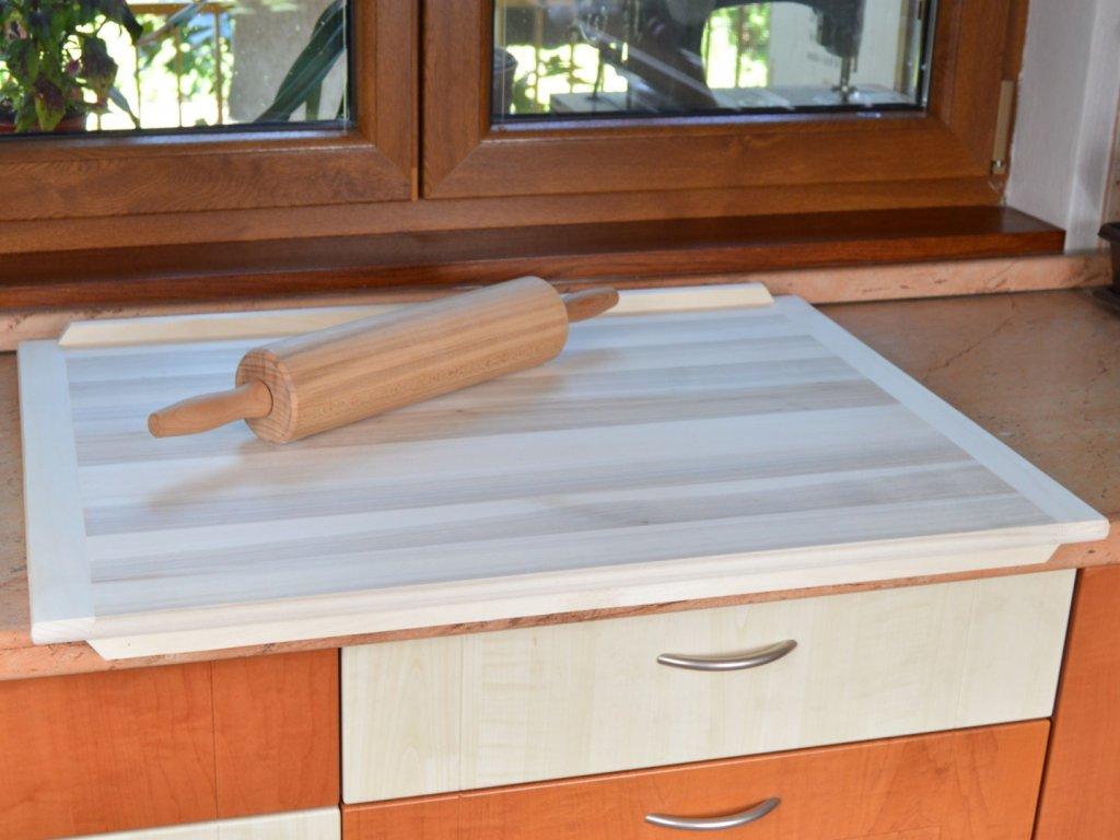 Dřevěný vál na těsto 80 x 60 cm - oboustranný