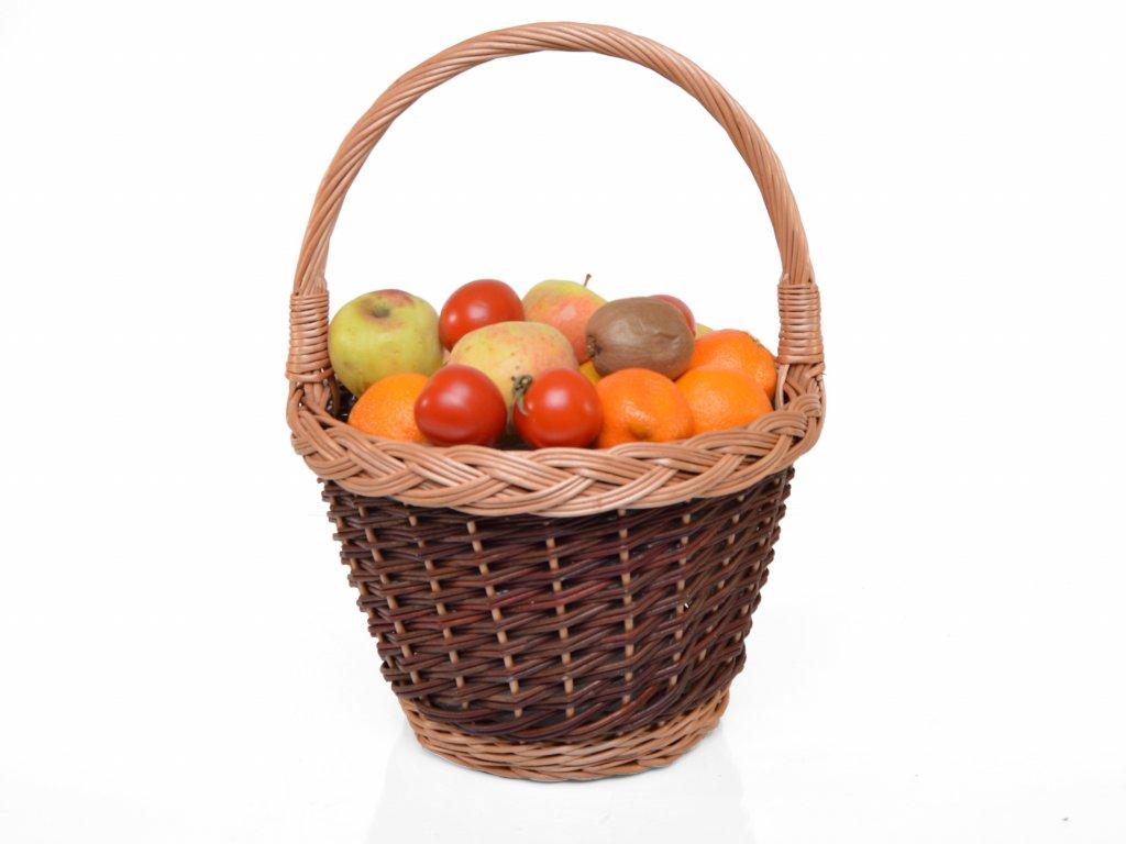 Proutěný košík na ovoce - velký