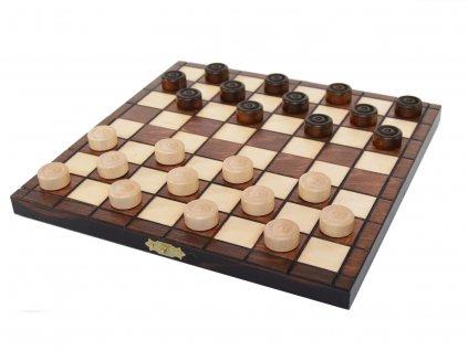 Dřevěná desková hra dáma