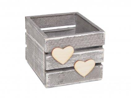 Dřevěný truhlík na vřes - šedý