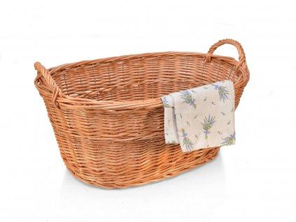 Proutěný koš na prádlo vandle - 60 cm