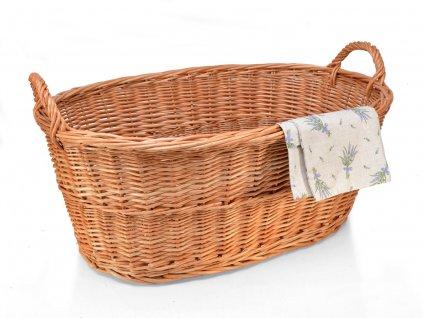 Proutěný koš na prádlo vandle - 70 cm