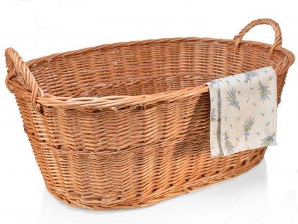 Proutěný koš na prádlo vandle - 80 cm