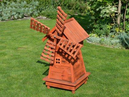 Větrný mlýn na zahradu velký - ohnivý mahagon