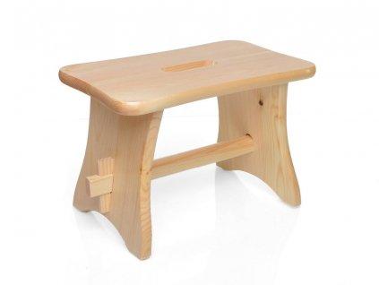 Dřevěná stolička - štokrle přírodní