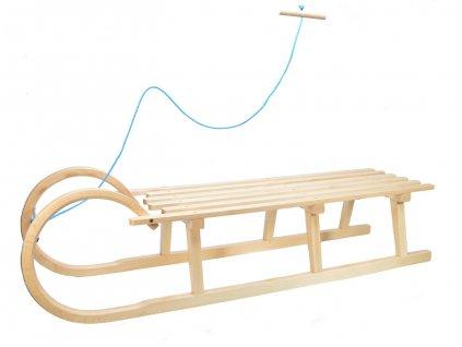Dřevěné dětské sáňky - celodřevěné