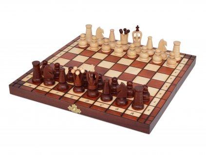 Dřevěné šachy - mahagon