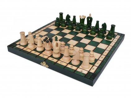 Dřevěné šachy - zelené