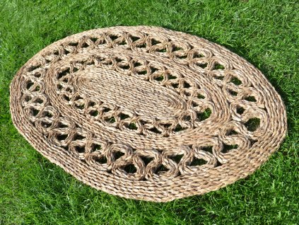 Oválná rohož na podlahu - 60 x 90 cm